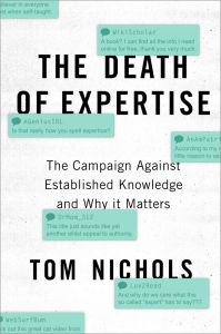 Cover of Nichols' book The Death of Expertise.