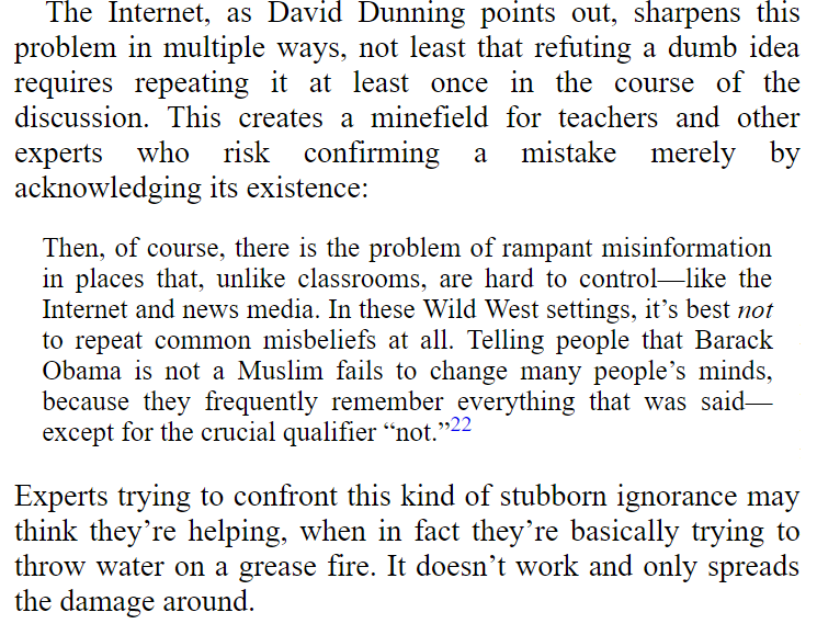 screenshot of nichols' book where he doesn't quote the important part of dunning's article.