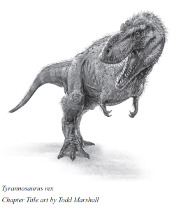 A fuzzy feathered T rex.