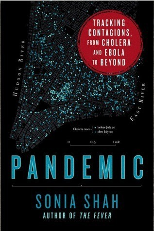 Pandemic book cover. The audiobook is well done. I listened first, read second.